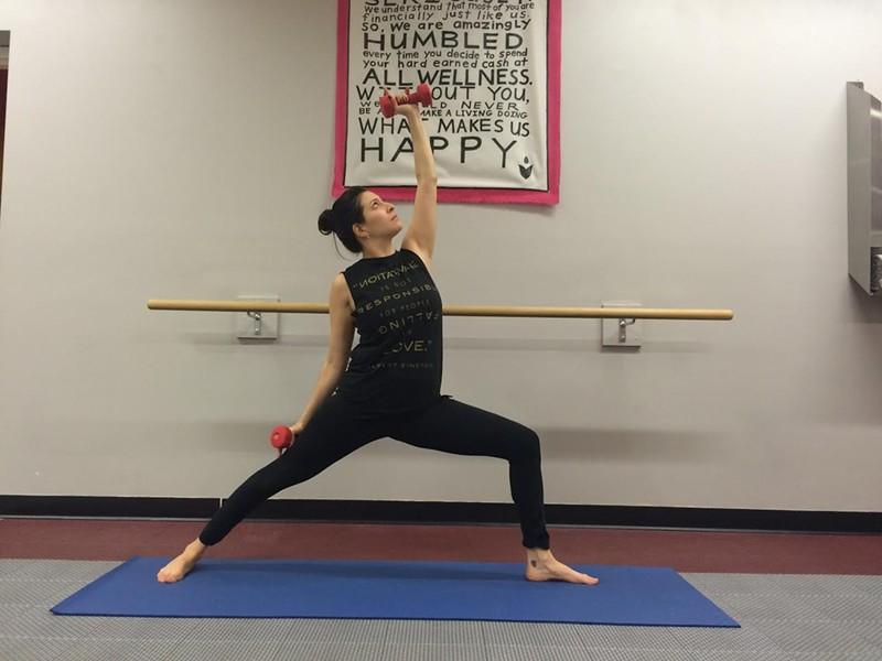 Yoga Sculpt  instructor Jacque Diaz - ALICIA FREESE