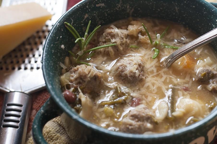 Meatball minestrone - HANNAH PALMER EGAN