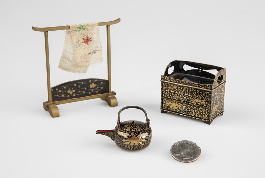Japanese lacquerware miniatures from Fleming collection - COURTESY OF FLEMING MUSEUM