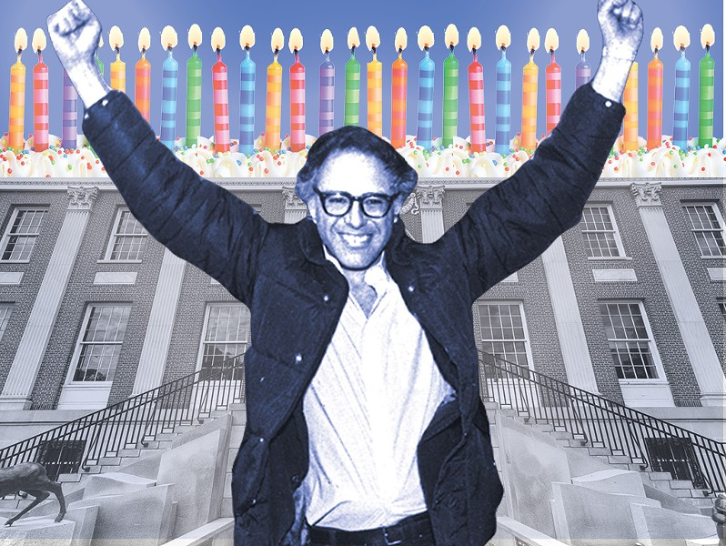 Birthday boy Bernie Sanders - FILE PHOTO: ROB SWANSON; ILLUSTRATION: JOHN JAMES