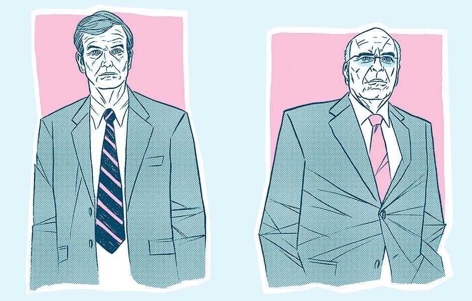 Scott Milne and Sen. Patrick Leahy (D-Vt.) - AARON SHREWSBURY