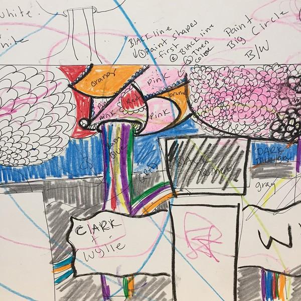 Mural concept sketch by Sage Tucker-Ketcham - SADIE WILLIAMS