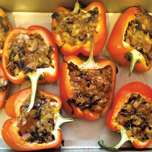 Stuffed peppers at Hel's Kitchen
