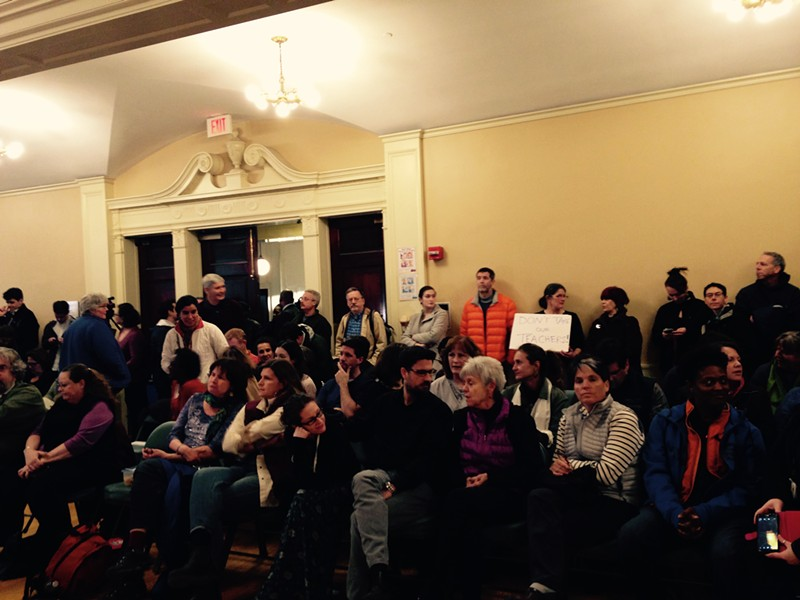 The crowd at Tuesday's Burlington school board meeting - MOLLY WALSH/SEVEN DAYS