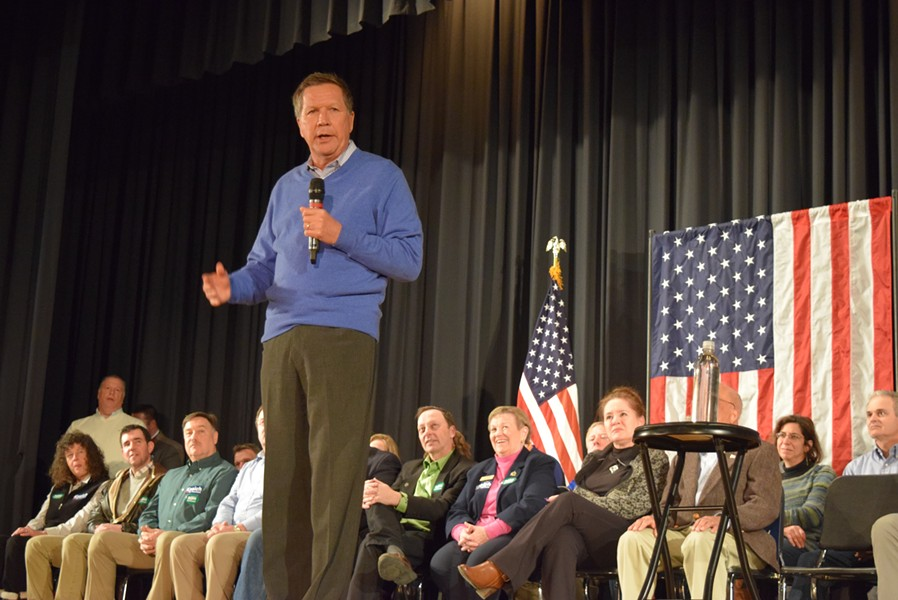 Gov. John Kasich speaks in Colchester in February. - FILE: TERRI HALLENBECK
