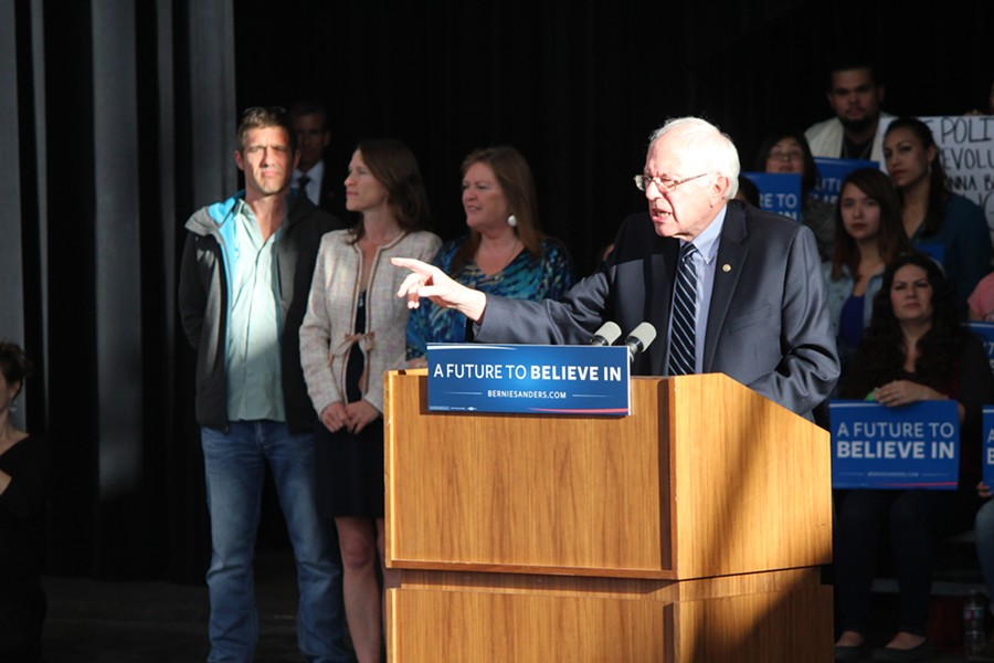 Sen. Bernie Sanders in Nevada in February - FILE: PAUL HEINTZ