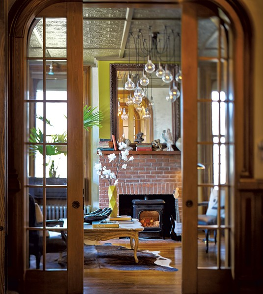 Looking into the inn's common space - COURTESY OF MADE INN VERMONT