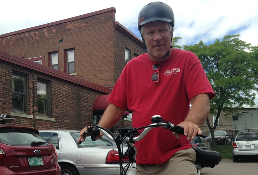 Rick Sharp on an electric bike. - MOLLY WALSH
