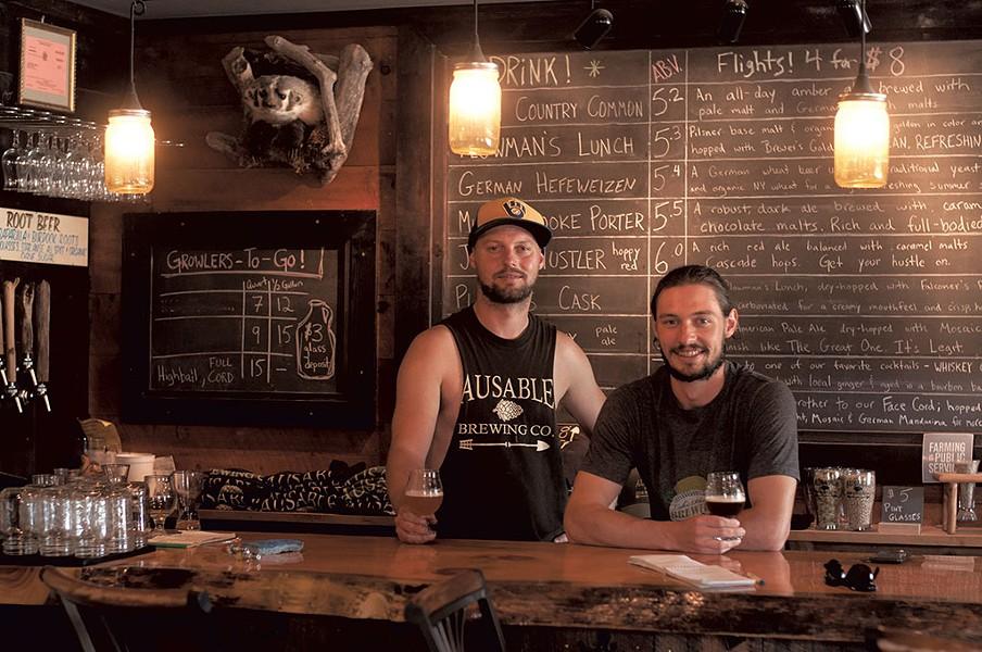 Dan and Dylan Badger, Ausable Brewing Company - HANNAH PALMER EGAN