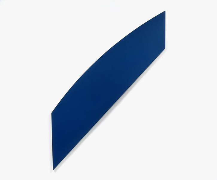 """""""Diagonal With Curve XII,"""" oil on linen by Ellsworth Kelly - COURTESY OF THE HYDE COLLECTION"""