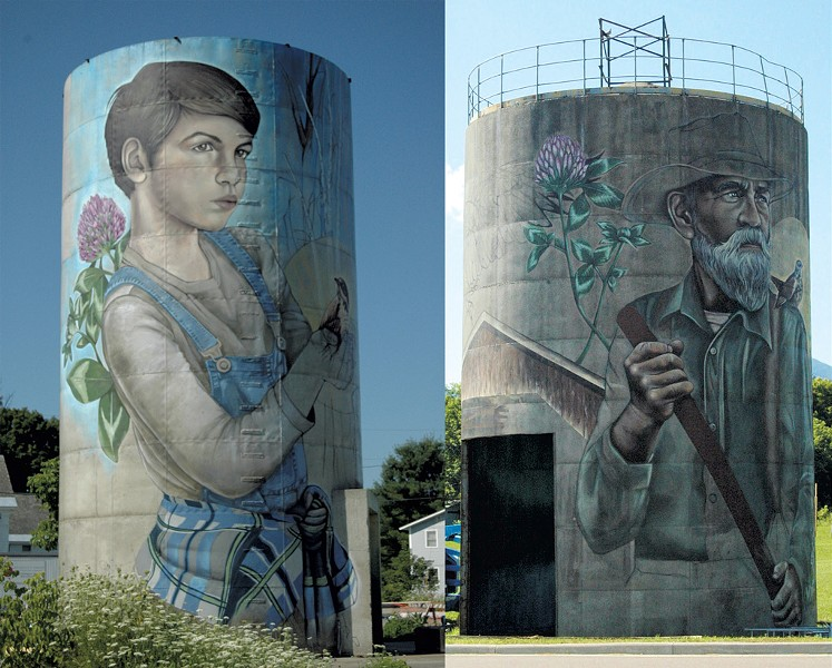 Silo murals by Sarah C. Rutherford - MOLLY ZAPP