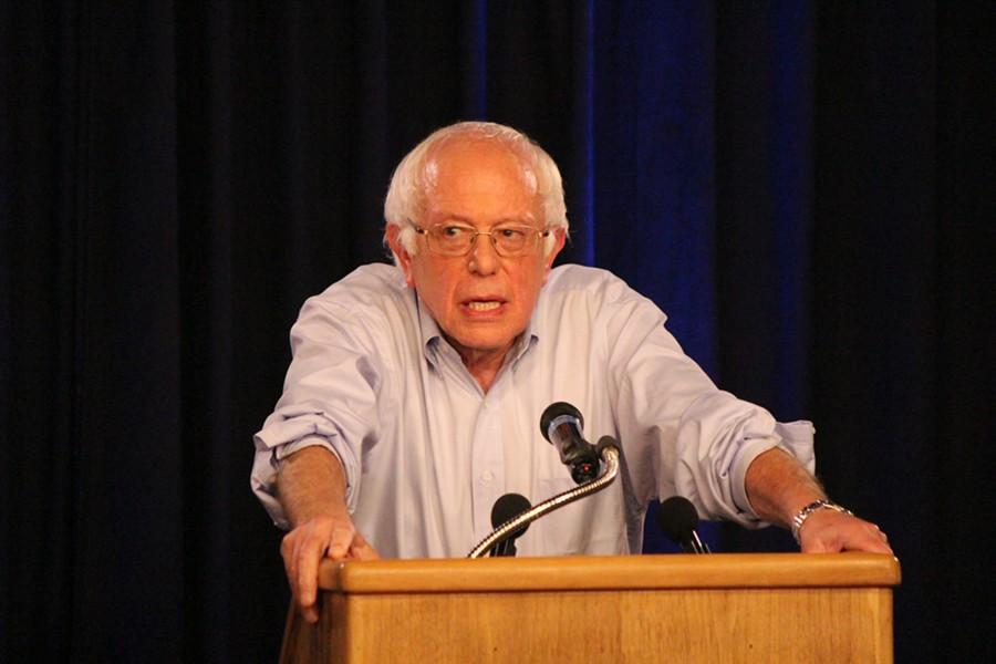 Sen. Bernie Sanders launches Our Revolution on Wednesday at Burlington's North End Studios.
