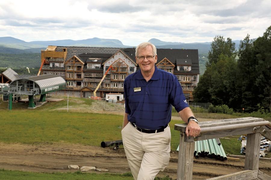 Bill Stenger at Q Burke Mountain Resort - DON WHIPPLE