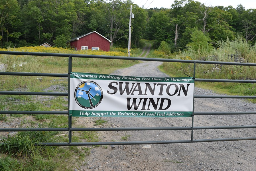 Swanton Wind proposes a seven-turbine project for a hillside off Vermont 105 in Swanton. - FILE: TERRI HALLENBECK