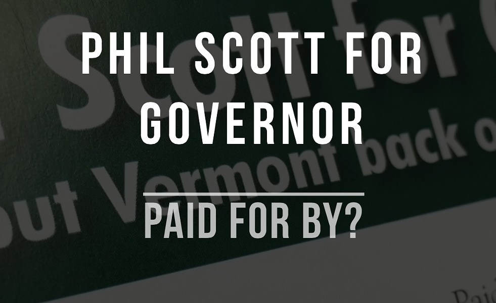 A Vermont Democratic Party website targeting Lt. Gov. Phil Scott - SCREENSHOT