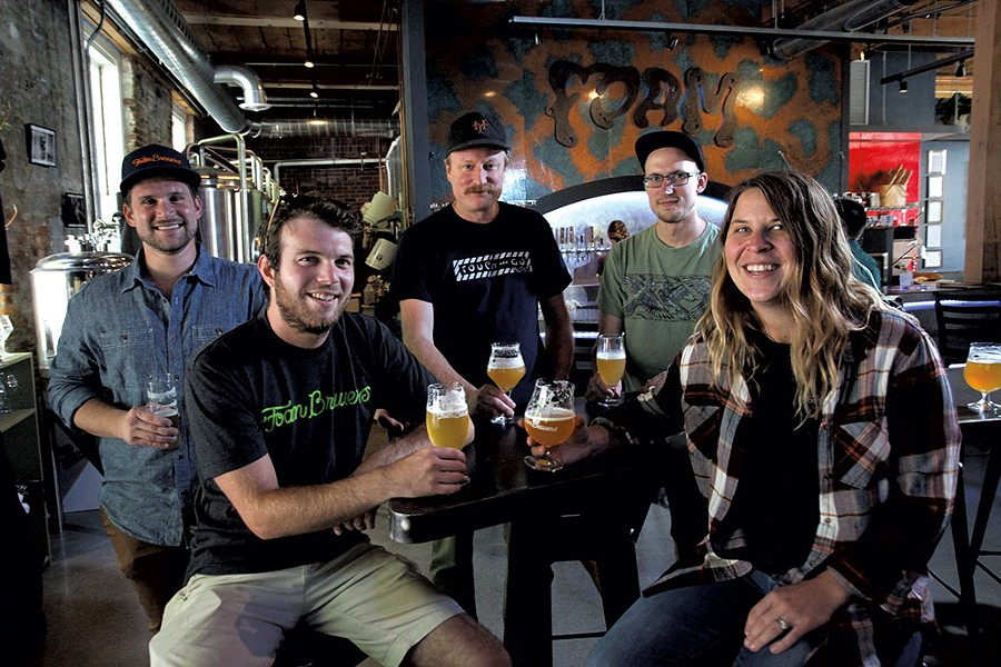 Left to right: Robert Grim, Sam Keane, Todd Haire, Jon Farmer, Dani Casey - MATTHEW THORSEN