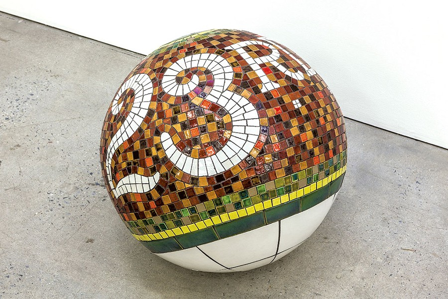 """Stop Ball (23rd Street)"" by Lars Fisk - COURTESY OF MARLBOROUGH CHELSEA"