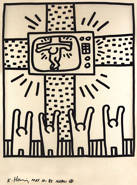 """Untitled"" by Keith Haring - COURTESY OF FLEMING MUSEUM OF ART"