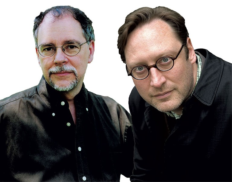 Gregory Maguire, left, and M.T. Anderson