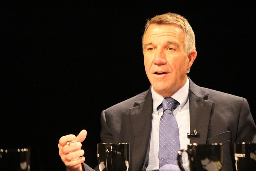 Lt. Gov. Phil Scott at a debate in Burlington in September - FILE: PAUL HEINTZ