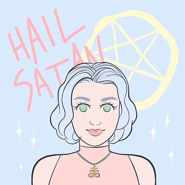 "Illustration for ""A Beginner's Guide to Satanism"" - HALEY CLEMENS"