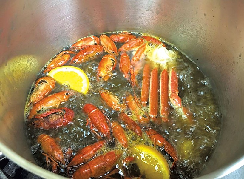 Shellfish boil at M-Saigon Restaurant
