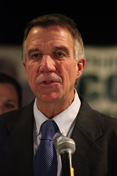 Phil Scott speaking Tuesday - MATTHEW THORSEN