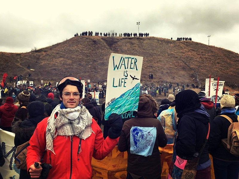 Avi Salloway at Standing Rock - COURTESY OF AVI SALLOWAY