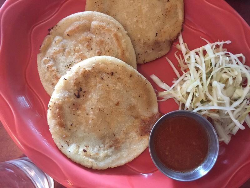 Pupusas at Esperanza Restaurante - HANNAH PALMER EGAN