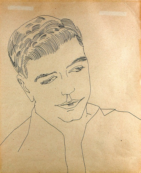 """Untitiled (Portrait of a Young Man)"" by Andy Warhol"