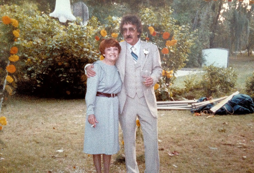 Mike and Marion Martello at their son's wedding in 1983 - COURTESY OF KELLY QUENNEVILLE