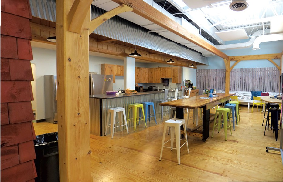 Company kitchen at American Meadows - COURTESY OF AROCORDIS DESIGN