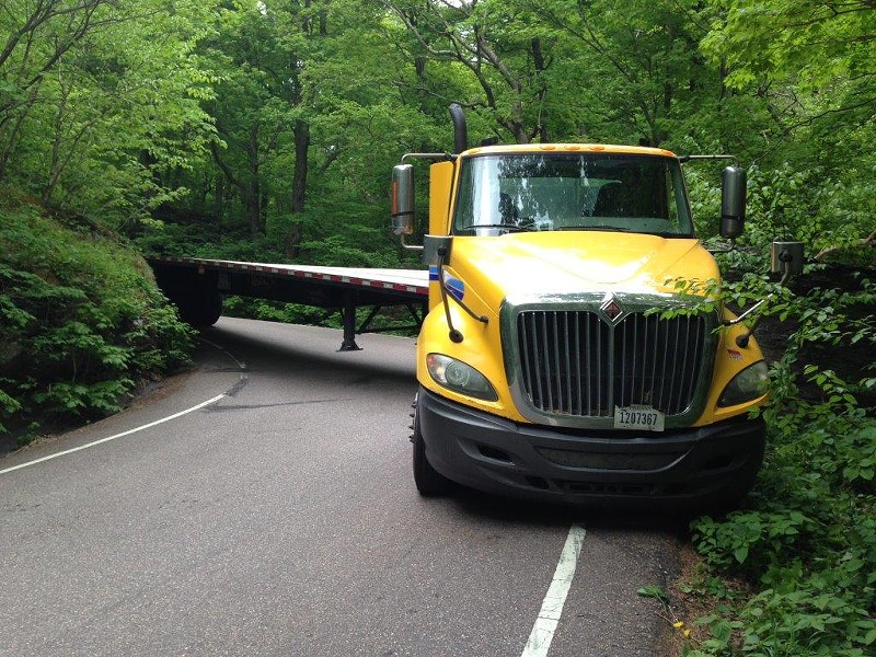 A stuck truck in June - COURTESY OF VERMONT DMV