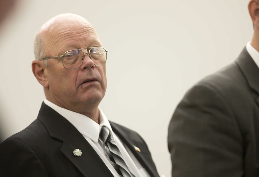 Norm McAllister in court Tuesday - FILE: POOL PHOTO/GREGORY J. LAMOUREUX/COUNTY COURIER