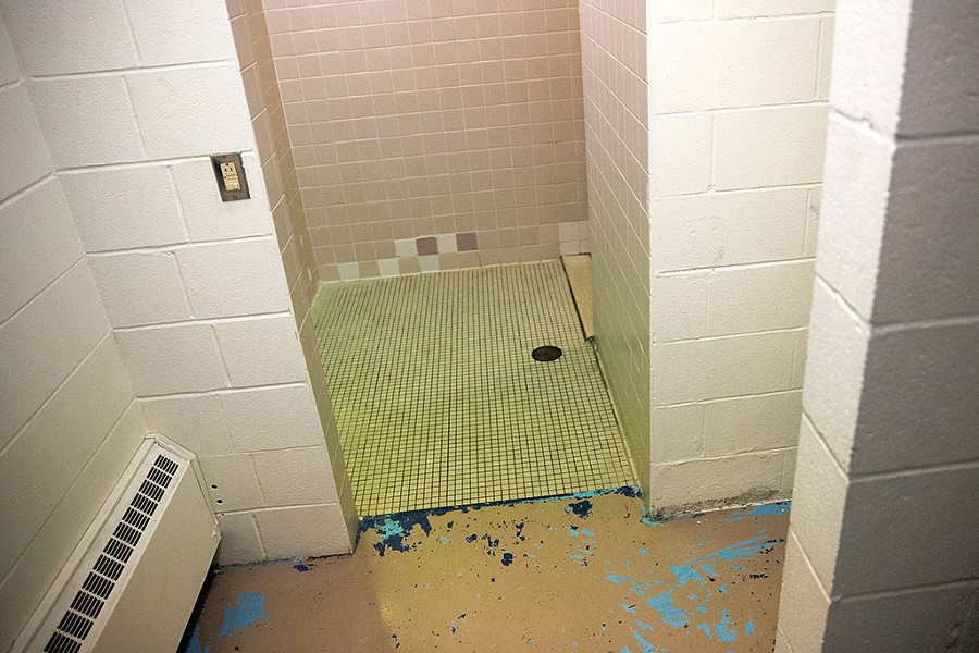A bathroom at the Woodside Juvenile Rehabilitation Center - JAMES BUCK