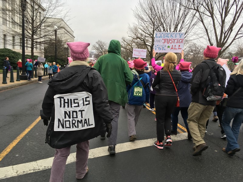 D.C. marchers - RACHEL JONES