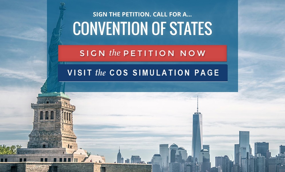 The Convention of States website - SCREENSHOT