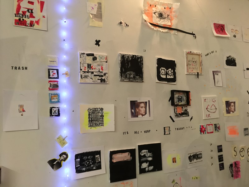 Wall of works by Leah Dinkin - RACHEL JONES
