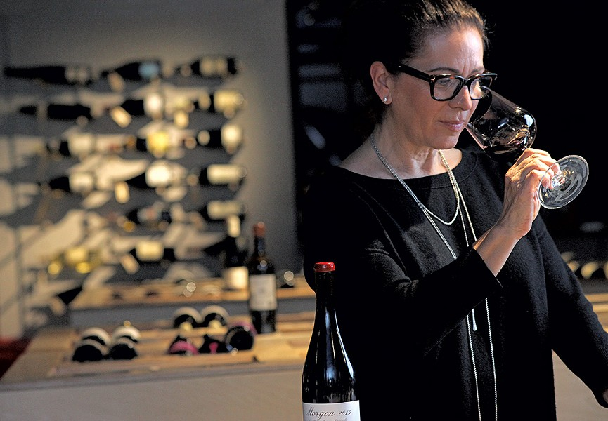 Lisa Strausser at Dedalus Wine Shop in Burlington - MATTHEW THORSEN