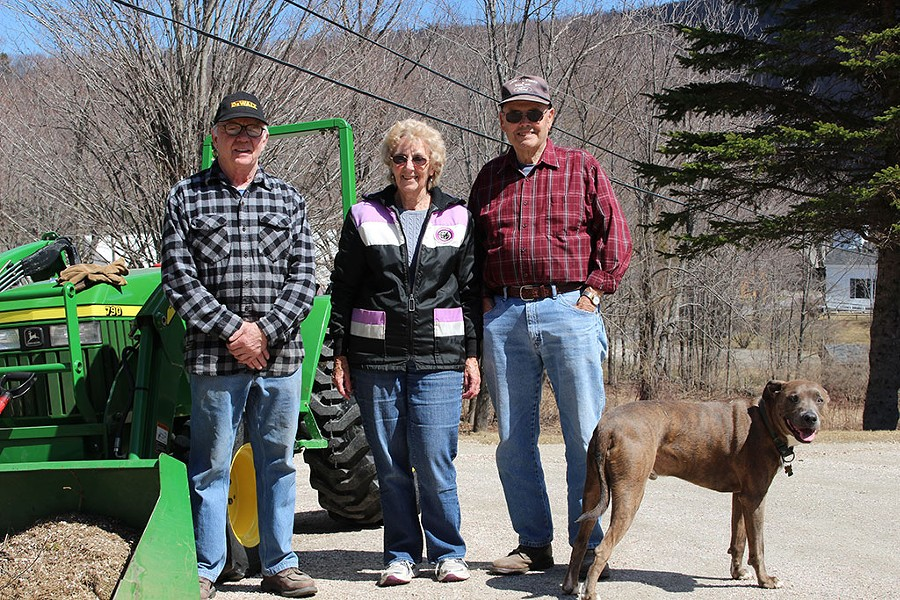 Cedric Johnson, Phyllis Martin and Don Martin in Plymouth Notch - PAUL HEINTZ