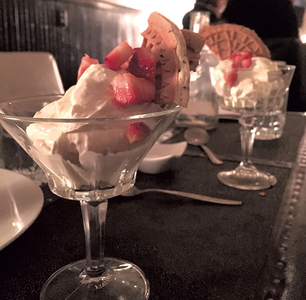 Citrus-ginger mousse at Black Krim Tavern - HANNAH PALMER EGAN