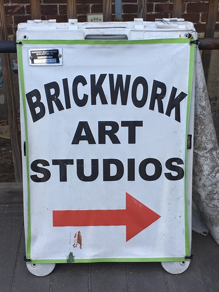 Sandwich board for Brickwork Art Studios - PAMELA POLSTON