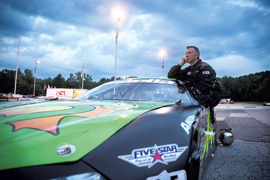 Phil Scott at Barre's Thunder Road SpeedBowl last August - FILE: JAMES BUCK