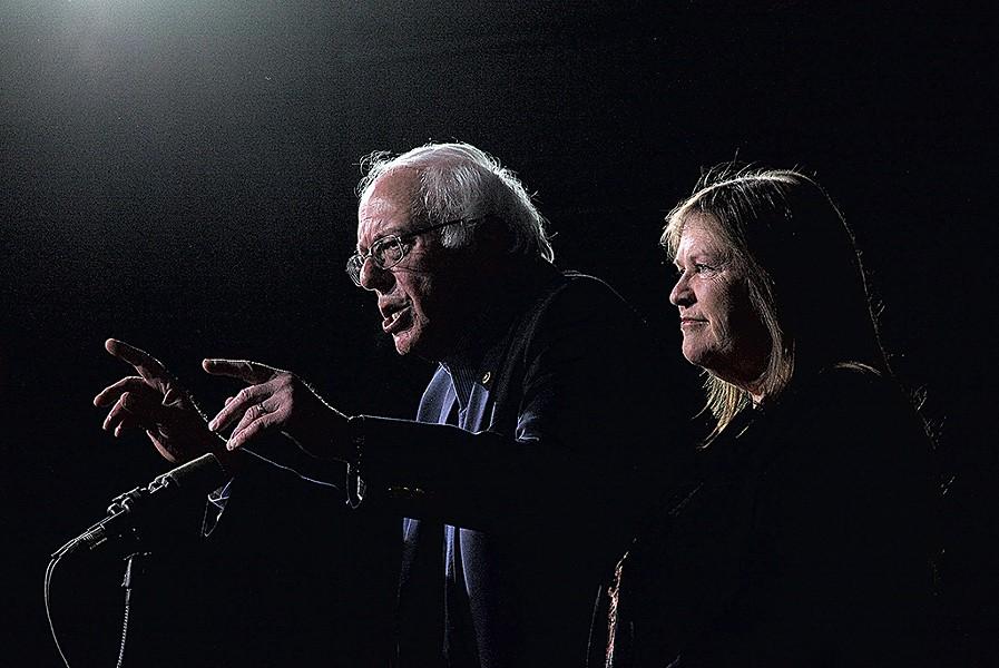 Sen. Bernie Sanders with Jane O'Meara Sanders - MATTHEW THORSEN