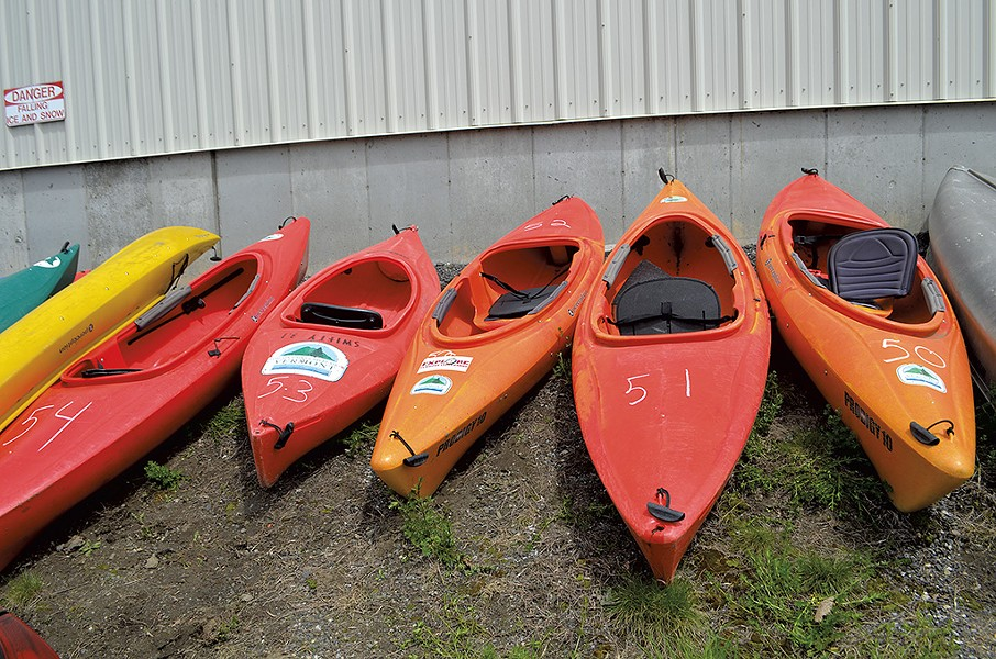 Kayaks to be auctioned - KATIE JICKLING