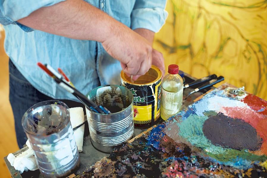 Ross Sheehan in his studio - CALEB KENNA