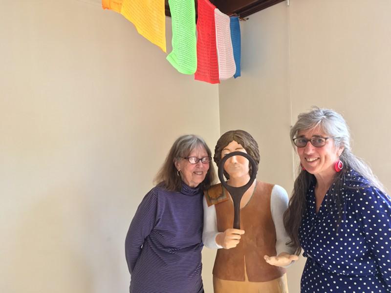 From left: Grace Spring, sculpture by Spring, Cassandra Corcoran - RACHEL JONES