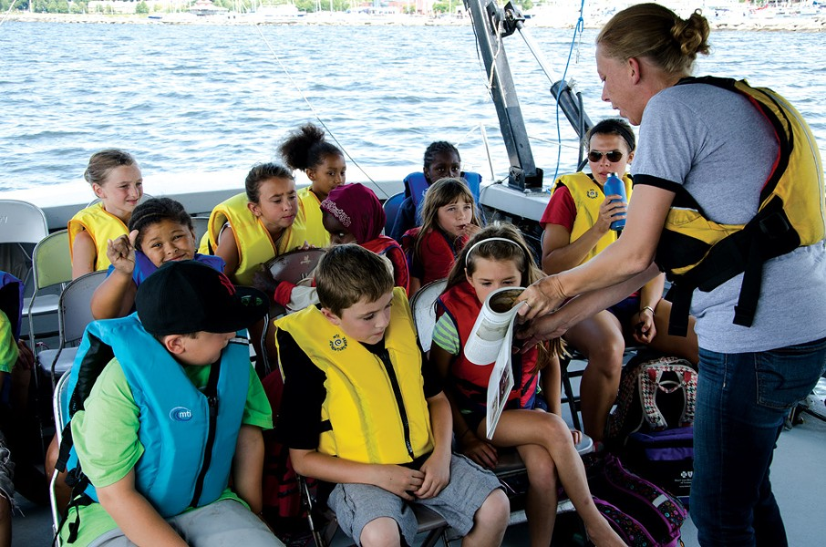 Visitors on a shipwreck tour - PHOTOS COURTESY OF LAKE CHAMPLAIN MARITIME MUSEUM