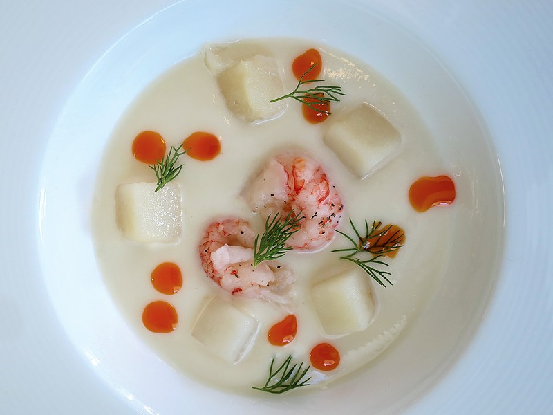 Cauliflower vichyssoise - MATTHEW THORSEN