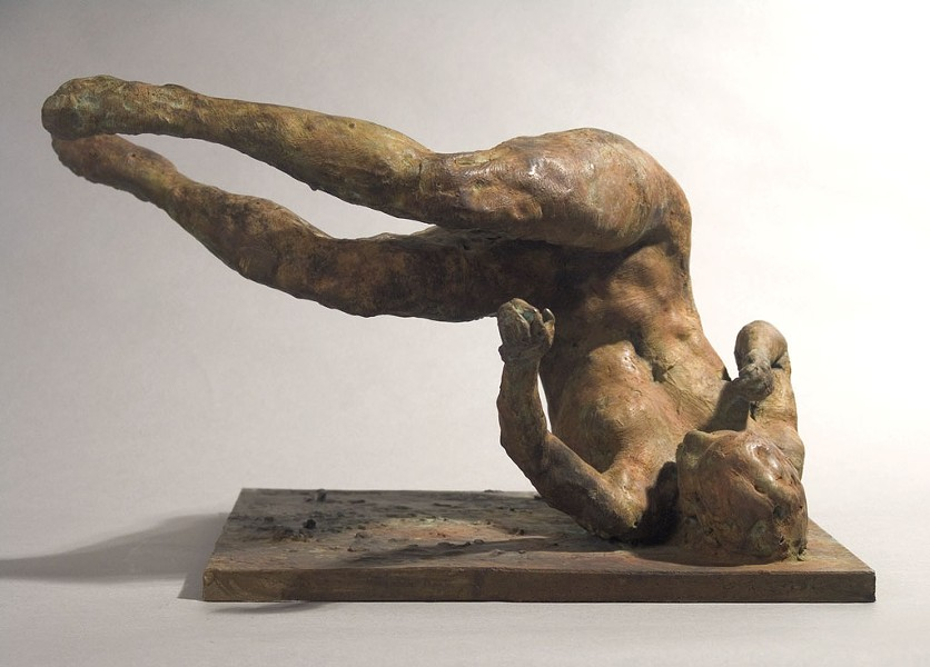 """Tumbling Woman"" by Eric Fischl - COURTESY OF HALL ART FOUNDATION"